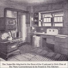 1911 Kitchen with Boiler & Gas Range by American Vintage Home, via Flickr
