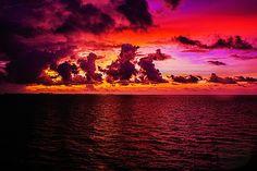 Sunrise over the Bahamas