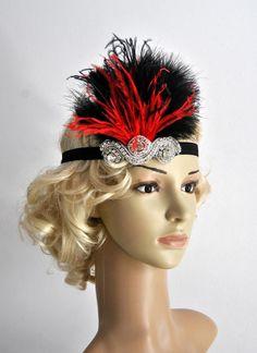 The Great Gatsby20's flapper Headpiece Vintage от BlueSkyHorizons