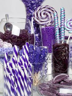 Purple Candy Buffet by candywarehouse, via Flickr| Be Inspirational ❥|Mz. Manerz: Being well dressed is a beautiful form of confidence, happiness & politeness