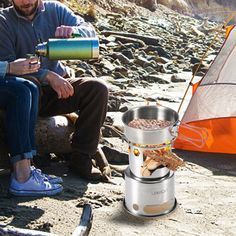 Lixada Portable Folding Wood Stove - US$14.84 Sales Online - Tomtop Smartwatch, Apple Technology, Carbon Footprint, Canisters, Stove, Picnic, Stainless Steel, Cooking, Wood