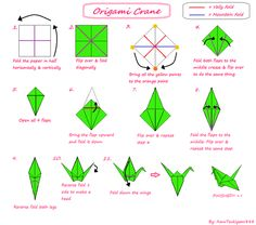 images of origami tutorials | TUTORIAL: Origami Crane by ~AmuTsukiyomi888 on deviantART