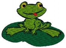 Green Frog embroidery kits modern