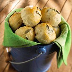 Sage Potato Rolls - Top with sage for elegant presentation