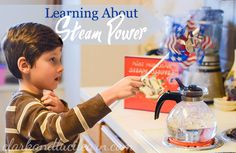 Learn about steam power with these family-friendly activities and resources. Great add-on when reading Mike Mulligan and his Steam Shovel! Science Projects, Science Experiments, Reading Activities, Fun Activities, Five In A Row, Transportation Theme, Coal Mining, School Themes, Industrial Revolution