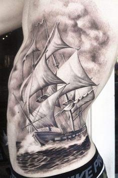 coverup tattoo sunken ship and kraken - Google Search