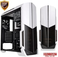 Gaming Computer Case ATX Mid Tower Fans Included Snow PC Clear Cover Desktop New #BlackComputerCase