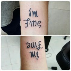What does depression tattoo mean? We have depression tattoo ideas, designs, symbolism and we explain the meaning behind the tattoo. Kpop Tattoos, Army Tattoos, Mini Tattoos, Body Art Tattoos, Small Tattoos, Tatuagem Twenty One Pilots, Tattoo Und Piercing, Ambigram Tattoo, Tatuajes Tattoos