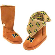Michigan Wolverines Women's Micro Suede Campus Boot II $29.99 http://www.fansedge.com/Michigan-Wolverines-Womens-Micro-Suede-Campus-Boot-II-_-1305634024_PD.html?social=pinterest_pfid66-51030
