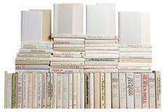 Modern Neutral Book Wall, S/75