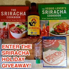 #GIVEAWAY: Win a Sriracha2Go refillable mini-Sriracha bottle, a bottle of Ninja Squirrel #Sriracha, the Sriracha documentary, signed copies of The Sriracha Cookbook, and more!
