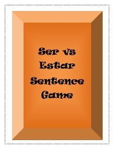 This activity is a great way for students to practice the difference between ser and estar!