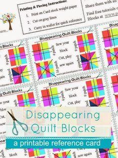 Beginner Quilt Patterns, Quilt Block Patterns, Pattern Blocks, Quilt Blocks, Quilt Tutorials, Panel Quilts, Disappearing Four Patch, 16 Patch Quilt, Chevron Quilt Pattern