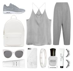 """""""sidetracked"""" by grey-eyes ❤ liked on Polyvore featuring NIKE, PB 0110, Blanc & Eclare, Acne Studios, Native Union, Cartier, Deborah Lippmann, Bobbi Brown Cosmetics and Sephora Collection"""
