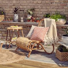 Classic wicker furniture brings a touch of elegance and finesse to any outdoor setup.