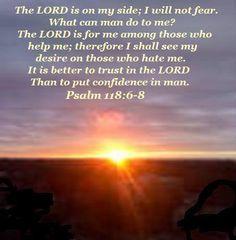 Psalm 118:6-8...