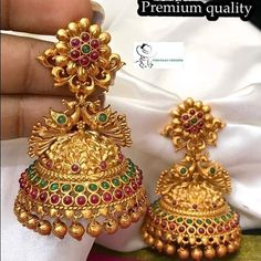Gold jewelry Simple Stones - Gold jewelry Videos Bridesmaids - Gold jewelry Indian For Men - - Dainty Gold jewelry Videos - Gold Earrings Models, Gold Jhumka Earrings, Indian Jewelry Earrings, Jewelry Design Earrings, Gold Earrings Designs, Gold Jewellery Design, Necklace Designs, Antique Earrings, Jumka Earrings