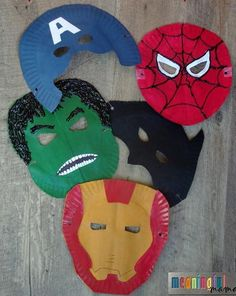 Your little ones can become their favorite superheroes with these easy Superhero Paper Plate Masks. Inspired by famous superheroes, like Batman, Iron Man, and Captain America, these easy kids' crafts can be made at home for basically free! Paper Plate Crafts For Kids, Easy Crafts For Kids, Summer Crafts, Creative Crafts, Paper Plate Masks, Paper Plate Animals, Paper Plates, Toddler Arts And Crafts, Movie Crafts