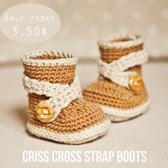 New pattern in stores and few hours left for special price! #crochetpattern #babyboots #babybooties #babyshoes