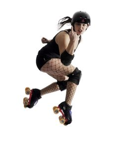 One day ill be able to jump that high Roller Derby Skates, Roller Derby Girls, Roller Skating, Action Pose Reference, Action Poses, Art Reference, Roller Disco, Girls Football Boots, Action Photography