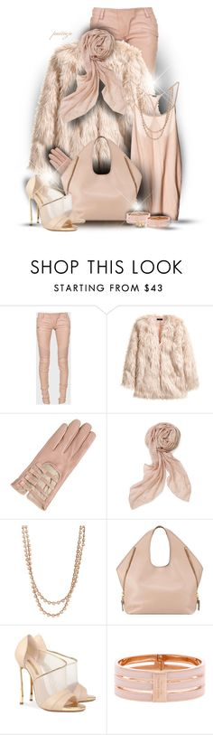 """""""She's in the Nude Again"""" by rockreborn ❤ liked on Polyvore featuring Balmain, H&M, Valentino, Stella & Dot, Feathered Soul, Tom Ford, Casadei, Henri Bendel and Carolee"""