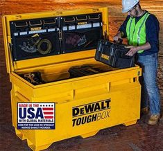 New Dewalt ToughBox New Dewalt ToughBox New Dewalt ToughBox New Dewalt ToughBox. - Expert Home Tools - Dewalt Tool Box, Dewalt Power Tools, Used Woodworking Tools, Woodworking Furniture Plans, Woodshop Tools, Woodworking Classes, Tool Organization, Tool Storage, Garage Storage