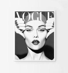 Vogue cover. Vogue poster. Vintage Vogue printable. por Byoliart