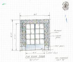 Door Sketch by Jeff Shelton Architect for El Andaluz