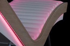 Luminous armchair chaise longue Arcus