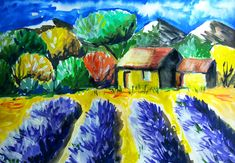 Lavender Field Gouache Painting (Video) – Cristina is Painting Watercolor Art Paintings, Watercolour Painting, Watercolors, Fantasy Magic, Photoshop, Lavender Fields, Painting Videos, Deviantart, Deco