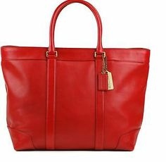 L@@K!! NWT COACH BLEEKER LEGACY WEEKEND TOTE #70487 - CHILI RED- NO RESERVE!!