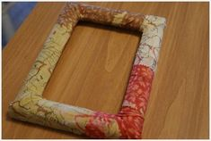 Moda Bake Shop: Fabric Frame Tutorial