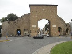 Porta Romana is the ancient stone gateway to old Florence, once a walled city, built in 1326.