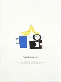 Matthew Brannon Steak Dinner, 2007 letterpress on paper 61 x 45,7 cm