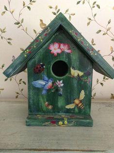 decorative birdhouses | Handcrafted Decorative Birdhouse by Bloomsbotanicals on Etsy, $65.00 ...