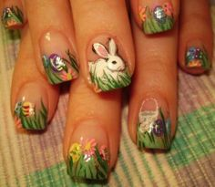 16 Lovely Easter Bunny Nail Arts You May Love