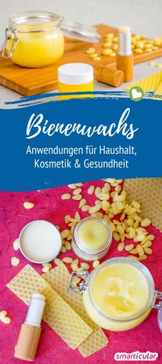 Das alles kann Bienenwachs – viel mehr als nur ein Abfallprodukt Bees leave their wax as waste in autumn, while the building material in household and care can be used in a variety of ways! With these recipes you can process the natural product. Aloe Vera, E Cosmetics, Diy Beauté, Homemade Baby Foods, Natural Make Up, Halloween Nails, Pedicures, Baby Food Recipes, The Balm