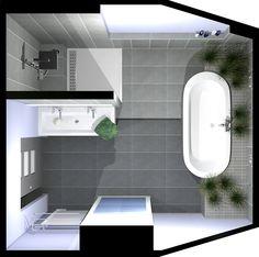 18 plans de salle de bains de 5 11 m d couvrez nos for Salle de bain 7 5 m2