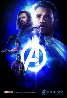 Avengers iw New poster with Steve,Bucky,Shuri,Nebula and Mantis