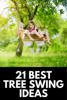 Tree swings have been a family favorite for generations, and in this article, we share 21 of our favorite tree swing ideas that the whole family can enjoy! Read more at OwnTheYard.com! Tree Swings, Outdoor Play Areas, Playground, 21st, Backyard, Kids, Inspiration, Design, Children Playground
