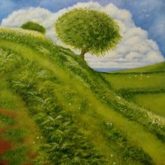 'Green Hill' by Petar Novakovic Golf Courses, Artist, Green, Painting, Painting Art, Paintings, Painted Canvas, Drawings, Artists