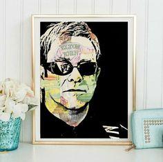 Elton John Wall Art | Lisa Jaye Art Designs