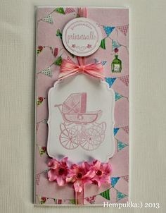 pink card for baby