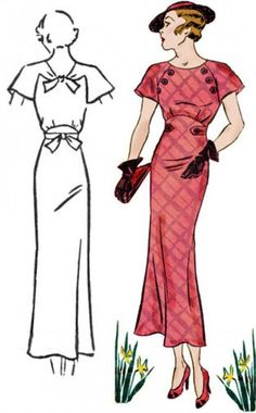 """Vintage Dresses Art deco dress, fashion, Hollywood glamour- sewing pattern , """" Decades of style """" pattern. Vintage Dress Patterns, Vintage Dresses, Vintage Outfits, Dresses Art, Style Patterns, Vogue Patterns, Vintage Clothing, 1930s Fashion, Retro Fashion"""