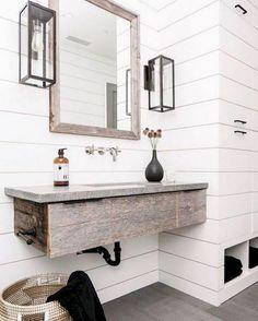 55 beautiful farmhouse bathroom remodel decor ideas