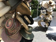 Hats galore at the Lincoln Road Farmers Market