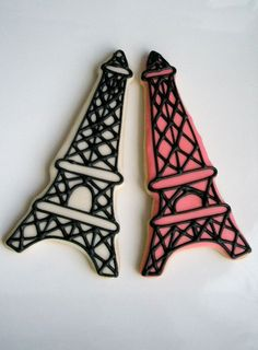 Eiffel Tower French Paris cookie favors by FunFavors on Etsy. $55.00 USD, via Etsy.