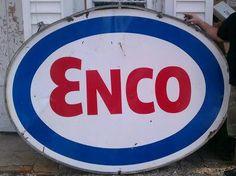 enco gas station photos | 321652 - Wed Apr 25 2012 08:18 PM Porcelain ENCO Sign w/ Bracket