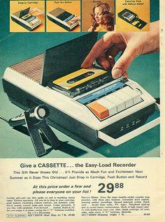Al liceo, la prof di inglese con il registratore sulla cattedra...     I got one when I was 12!