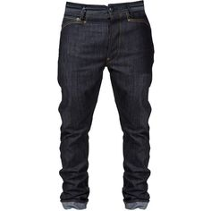Welder Straight-Leg Jeans ($135) ❤ liked on Polyvore featuring jeans, men, pants, bottoms, blue jeans and straight leg jeans